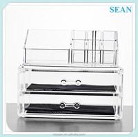 acrylic cosmetic organizer acrylic organizer wholesale acrylic makeup organizer with 2 drawers