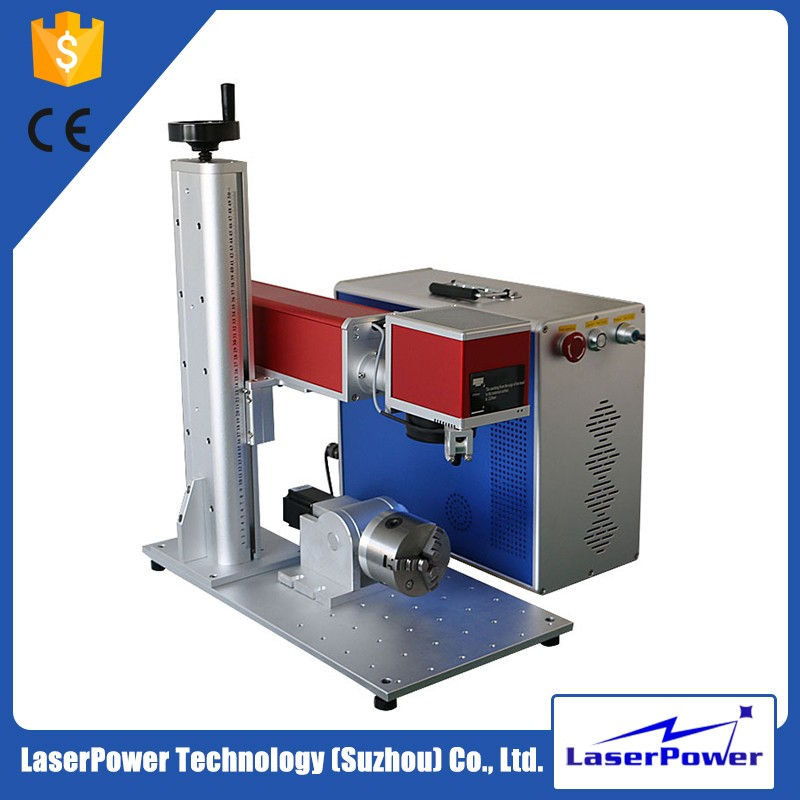 Portable 20w Fiber Laser Marking Machine for Stainless Steel With 2 Years Warranty