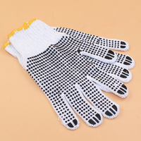 Cheapest Safety PVC Dotted Working Gloves Cotton Knitted White Cotton for workers