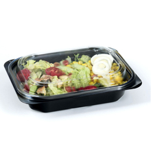 Plastic fruit <strong>container</strong> box salad wholesale disposable tray biodegradable packaging black free samples