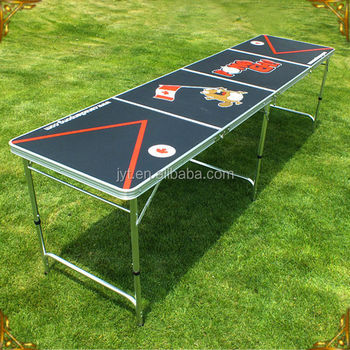 8ft folding beer pong game table with 4 parts