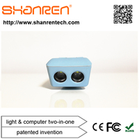 SHANREN Raptor 2.4G wireless Smart LED bicycle safety lamp with Bicycle Computer