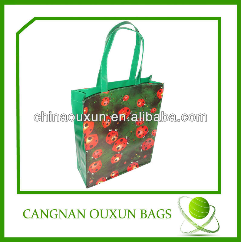 pvc laminated cotton shopping bag