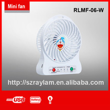5 v eléctrico <span class=keywords><strong>ventilador</strong></span> recargable con usb plástico air conditioner fan cuchillas