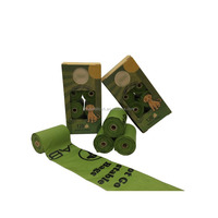 biodegradable 0.015mm to 0.025mm dog poop corn bags with dispenser,pet dog waste bag,plastic doggy bag