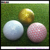 Special dimple plated custom gold ball golf ball
