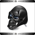 Daihe Black Color Stainless steel expendable skull rings