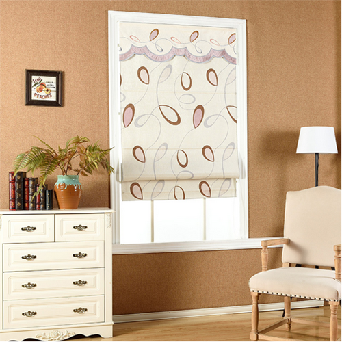 Printed motorised roman blind , curtain blinds, interior window treatment