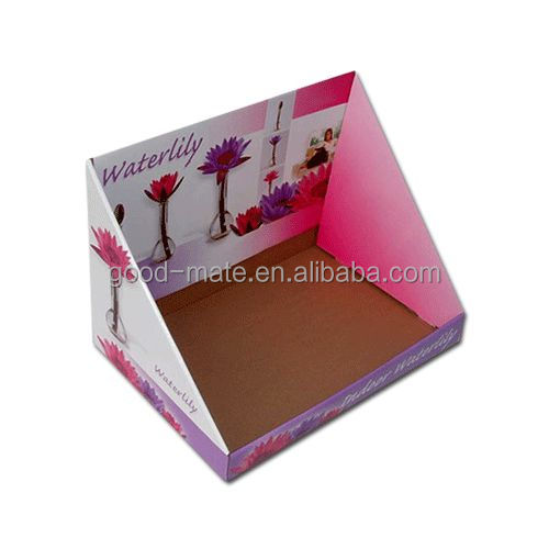 Custom paper cardboard retail display carton box with logo printing
