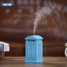 2017 Vintage Style Portable Mini Usb Car Bedroom Dry Burn Protection Mute Telephone Booth Humidifier