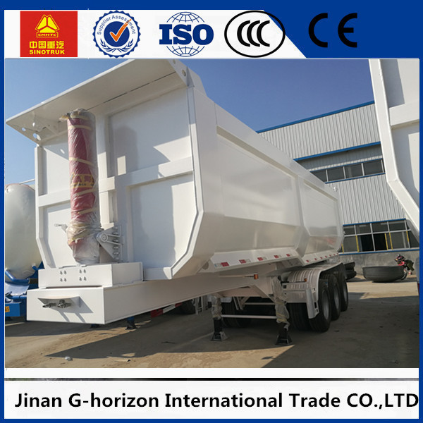 25 Cubic FUWA Three Axle Trailer U Type Heavy Duty Dump Semi Trailer 40 T