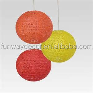 Colorful Round Hallowed Wedding Chinese Lanterns Party and Events Supply Hanging Decoration Small Order