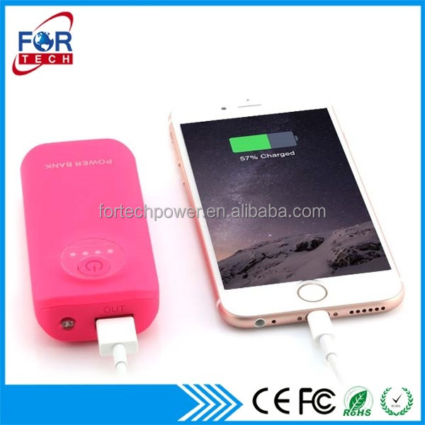 Shenzhen Tablet Charger Battery Power Bank PVC Logo Mobile Power Charger 6000mAh with Best Quality