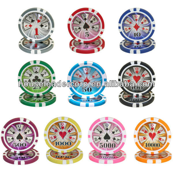 "11.5g ""High Roller"" custom plastic poker chips / custom plastic poker chips"