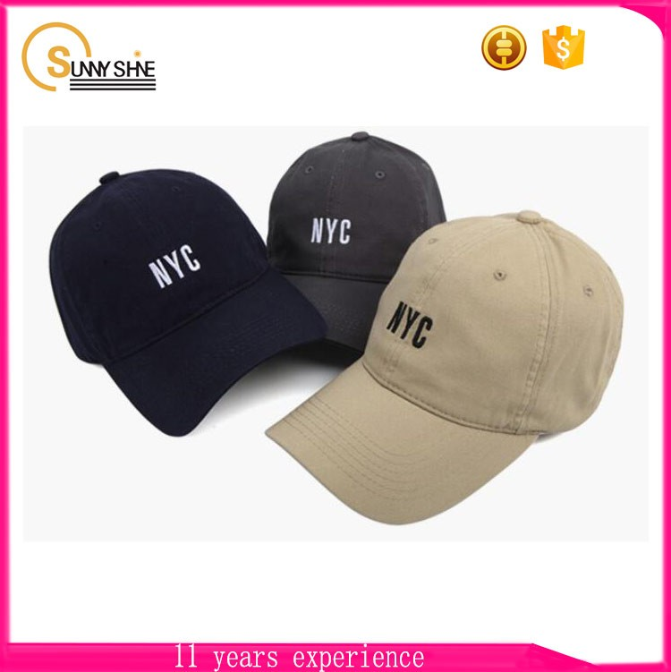 New style product 100% polyester long brim baseball caps