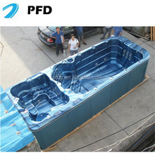 6meters 18inches portable endless swim spa tub , swimming spa pool