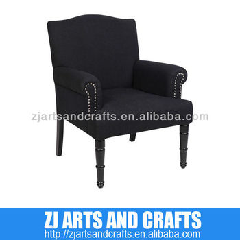 0481 chair ( Black Linen scolloped back chair with matching silver studs around arms with matt black legs)