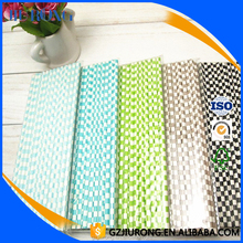 25/50/100 Colorful Check Paper Drinking Straws, Birthday/Wedding Party