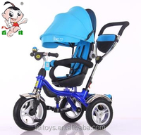 4 in 1 baby tricycle ,3 wheel children tricycle toy with rotaty and big handel bar,best toys for kids