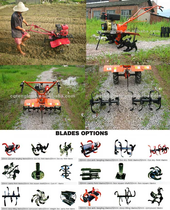 Recoil start chinese 7hp gasoline power cultivators/ tillers