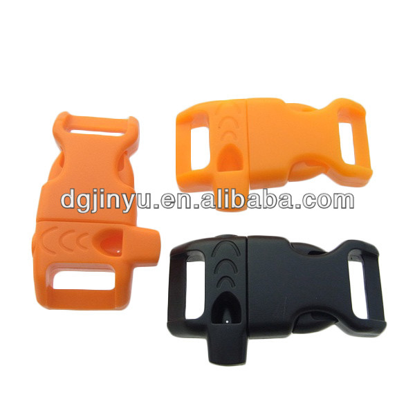 Plastic whistle buckle for paracord bracelet