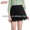 Fashion short black zipper ladies mini skirts summer elegant women lace skirt
