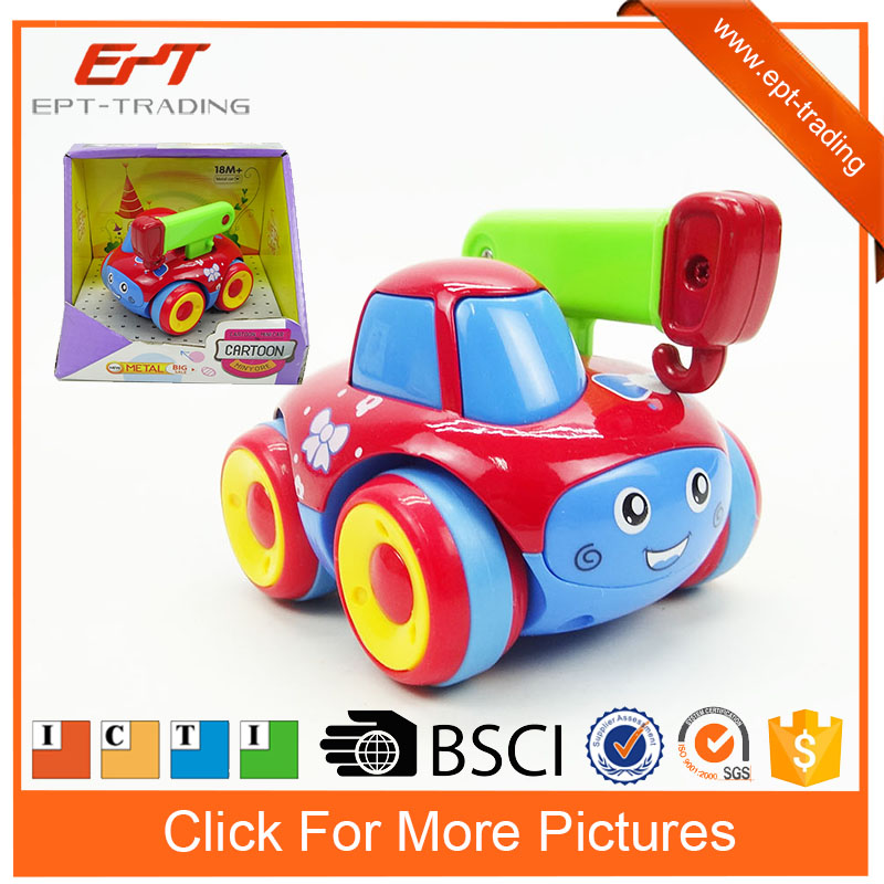 Mini friction cartoon metal diecast models toy truck for kids