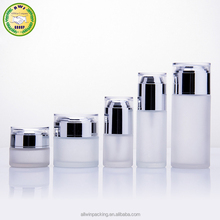 cosmetic packaging 20/30/40/60/80/100ml frosted glass bottle 120ml lotion bottle empty bottles with pump
