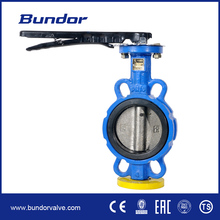 wafer type valve price centerline manual dn100 pn16 epdm lined butterfly valve