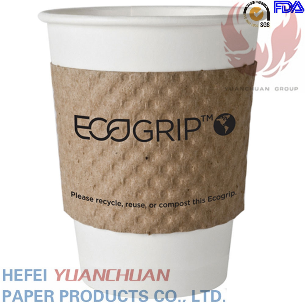 china factory cheap disposable black coffee sleeve cup sleeve