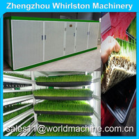 Hydroponic growing rooms specifically designed to sprout grain and legume seeds in trays