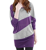 latest style pullover tops lady Loose Bat Sleeve stripe o -neck sweater cheap wholesale