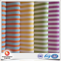 yarn dyed candy colour stripe dobby design fabric for women clothing