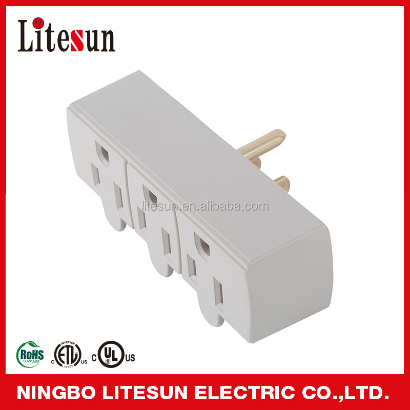LA 9 UL CUL listed 3 outlets Wall tap current tap