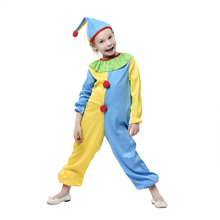 New design funny professional carnival clown costume for children