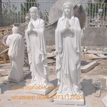 Catholic religious St.Mary of white marble Virgin Mary statue