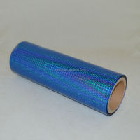 Hot Selling& First Quality PET Blue Holographic Film For Gift Packing Or Decoration