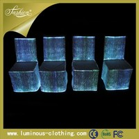 Hot sale popular led lighting chair cover custom office ruffled wedding chair seat cover