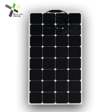 High efficiency photovoltaic cells motorhome caravans flexible solar panel 100w 120w 130w for sale
