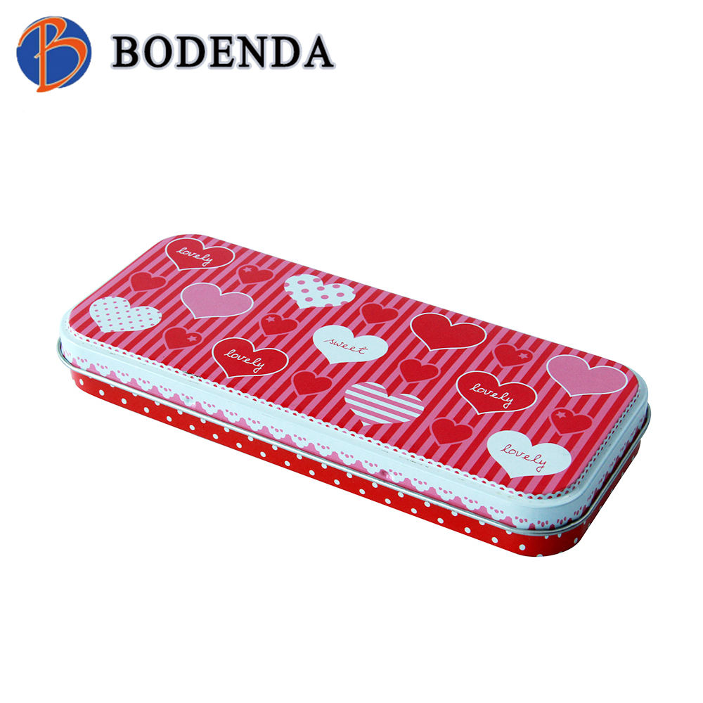 promotional rectangle pencil tin box