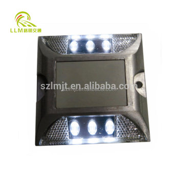 Road safety aluminum waterproof wired LED cat eye road stud