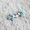 Japan and korean styles turquoise silver hair clip,skysweet wholesale lady hair accessories(PR793)