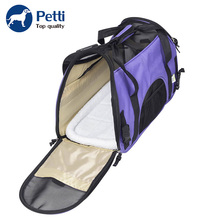 Wholesale Soft-Sided Mesh Cloth Breathable Pet Carrier Carry Bag