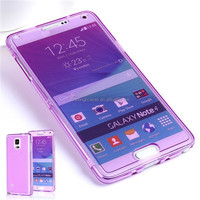 Thin Slim Transparent TPU Gel Cover for Samsung Galaxy Note 4 IV N910 Soft Crystal Clear Case