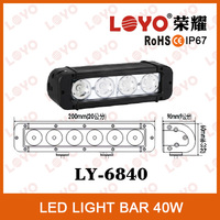 Hot single row led light bar with extra strong bracket for sport racing