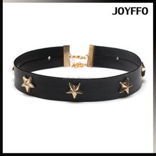 Accessories for Women Gothic Style Leather Pentagram Neck Choker