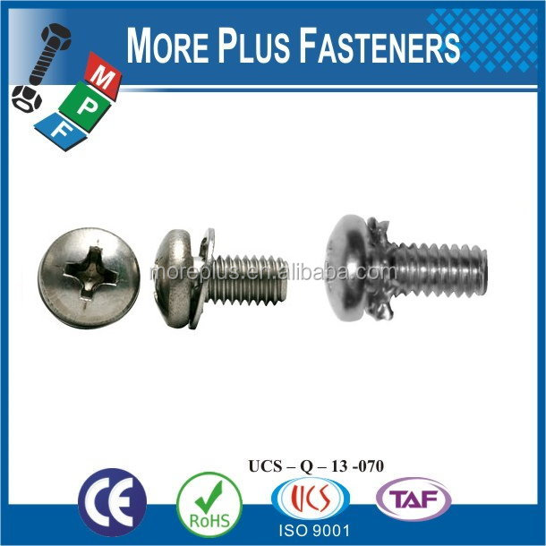 Taiwan Stainless Steel 18-8 Copper Brass Aluminum Brass Captive Washer Cap Screw Plastic Washer Screw Wear Washer Screws