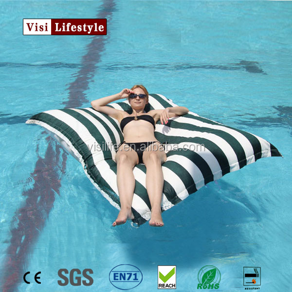 VIsi BB300 Floating Fabric Beanbag Stripe Water Hammock Sleep Tents Pool Row Pattern Lounge Air Floating Bed for Beach Swimming