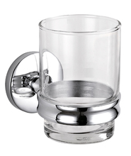 Highly Recommended Bathroom Assessories Wall Mounted Zinc Alloy Chrome Plating Cup Tumbler Holder