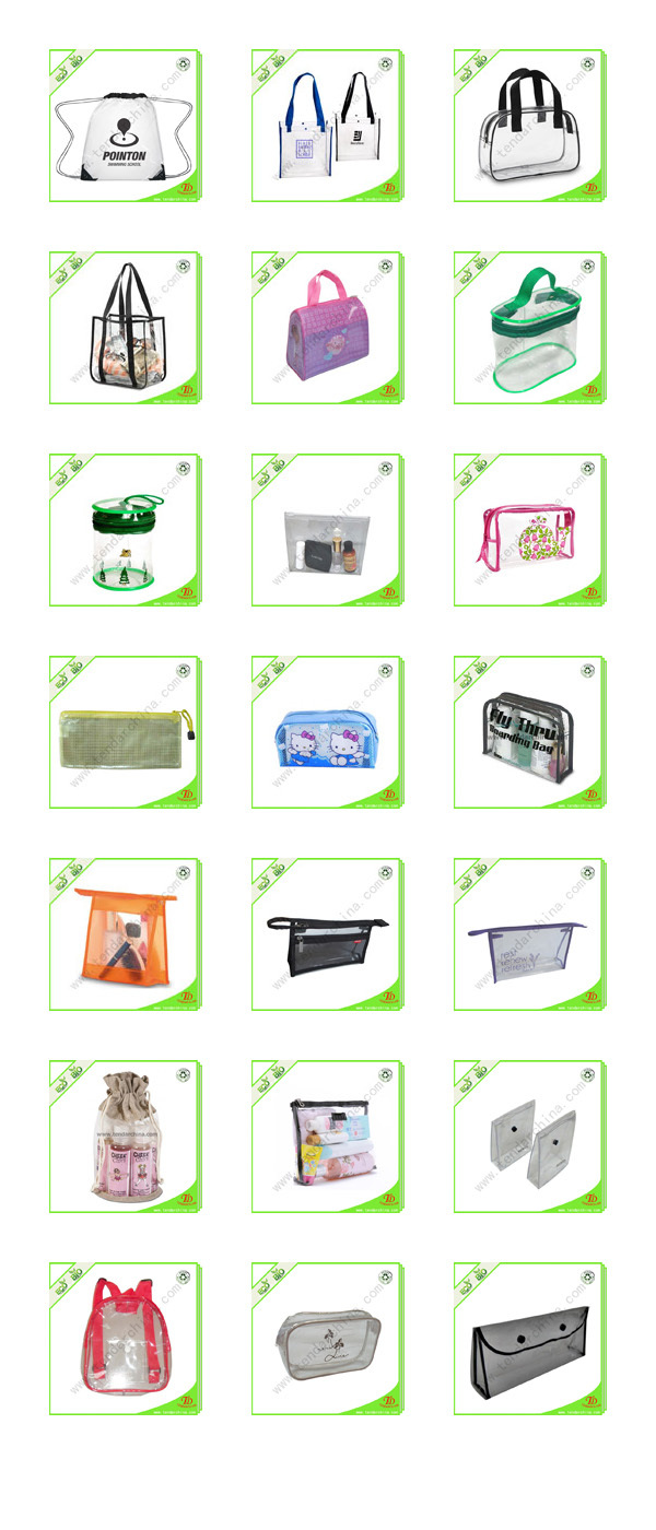 Clear Plastic PVC Toiletry Bags With Custom Logo